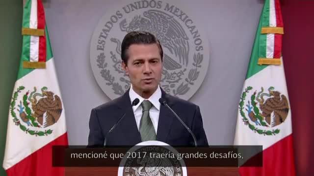 Missatge de Peña Nieto a Mèxic després de parlar amb Trump