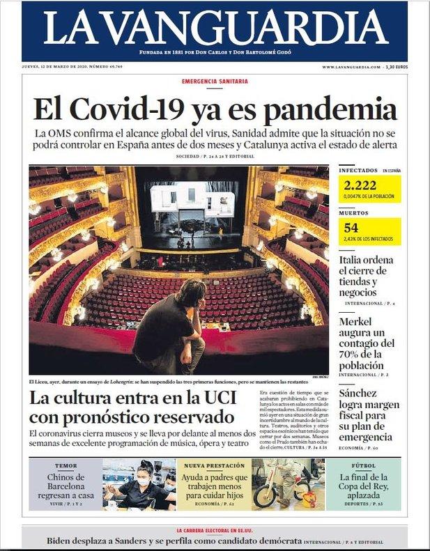 Prensa hoy: Portadas de los periódicos del 12 de marzo del ...