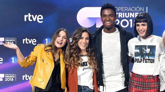 Sabela, Julia, Famous y Natalia, cuatro de los nueve exconcursantes de OT 18 que participarán en la Gala de Eurovisión.