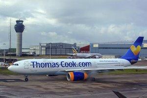 Un avión de la agencia de viajes Thomas Cook.