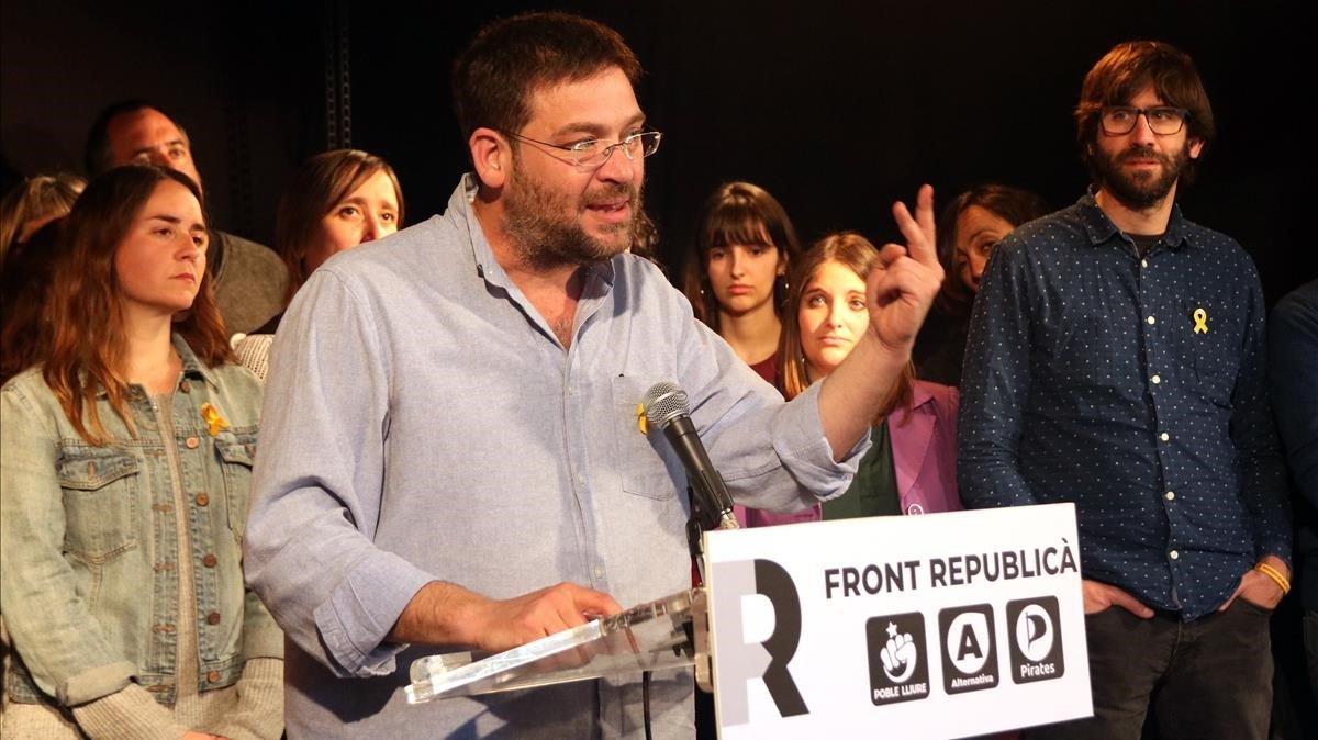 Albano Dante Fachin, cabeza de lista delFront Republica por Barcelona a les elecciones generales.