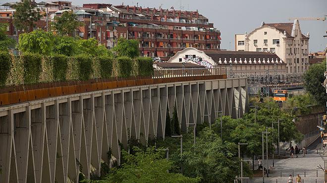 Barcelona estrena los jardines de la Rambla de Sants.