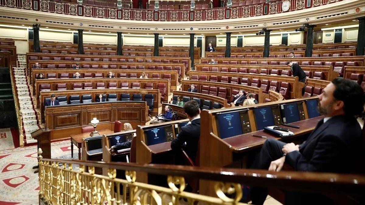 Aspecto del Congreso de los Diputados, el 18 de marzo.