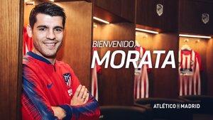 El Atlético de Madrid anuncia el fichaje de Morata