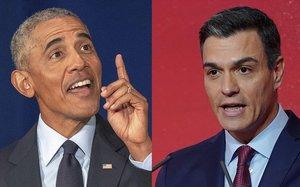 Barack Obama y Pedro Sánchez.