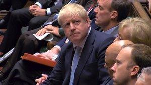 Boris Johnson, en una sesión del Parlamento el pasado jueves.
