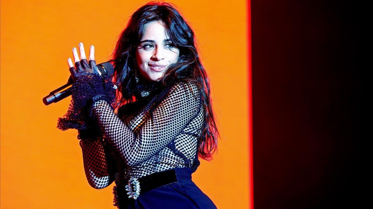 Camila Cabello, en su actuación del martes en el Sant Jordi Club
