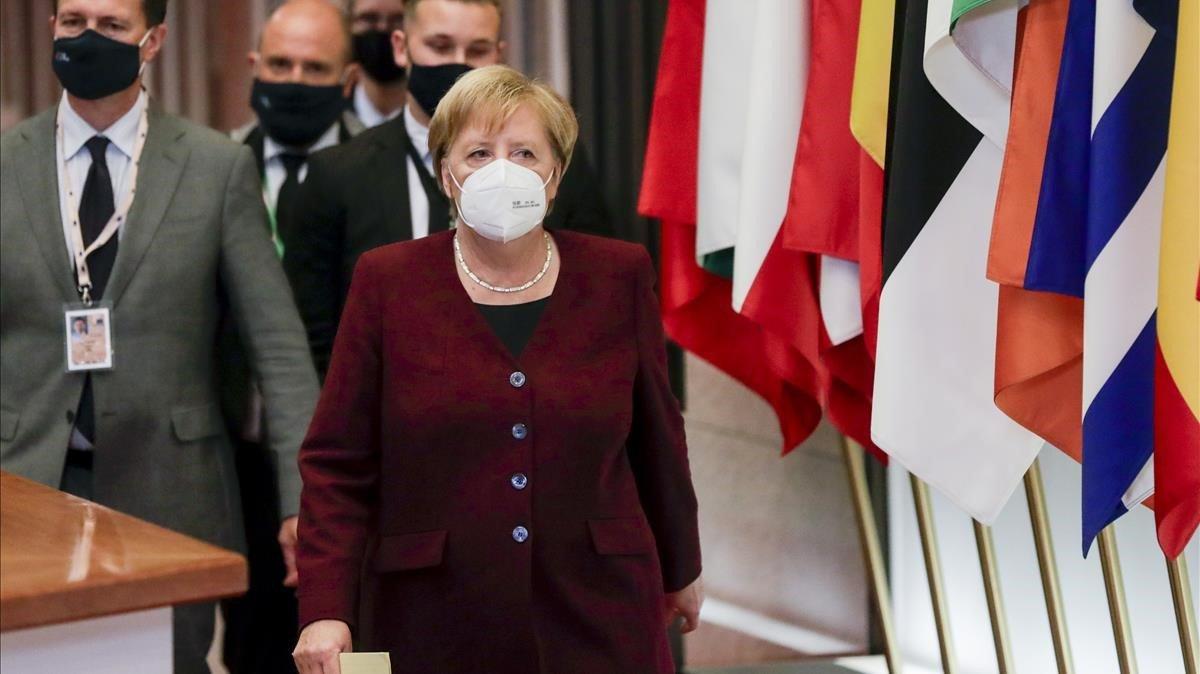 La cancillera alemana, Angela Merkel,en Bruselas.