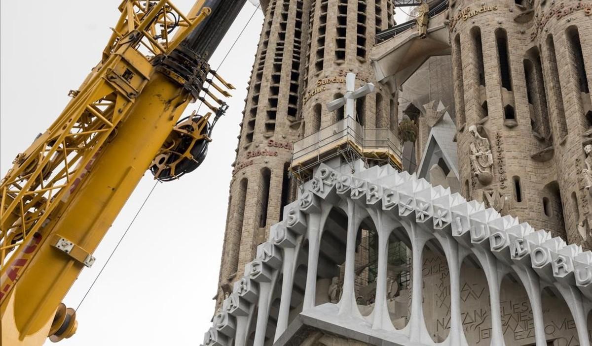Obras en la Sagrada Família.