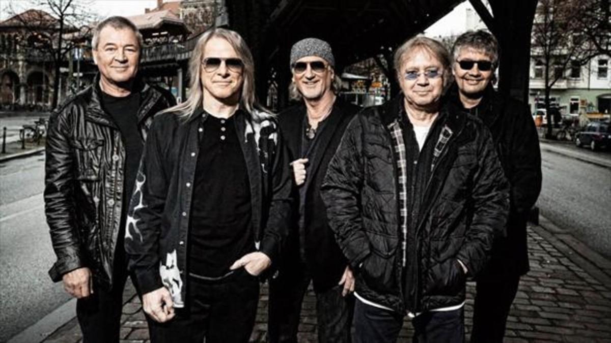 Deep Purple:Ian Gillan, Steve Morse, Roger Glover, Ian Paice y Don Airey.