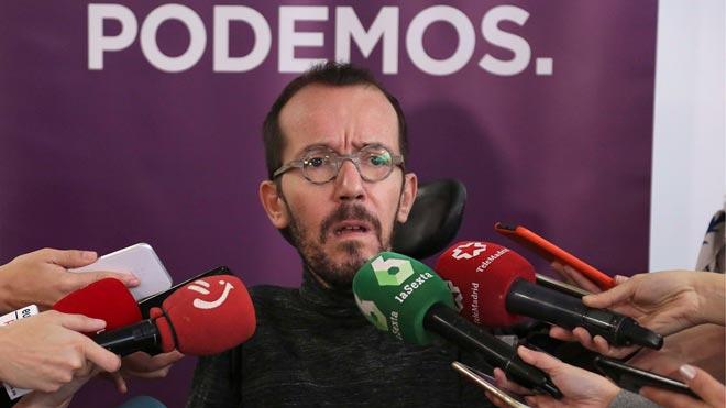 Echenique, de Podemos, pide a sus candidatos pasar página.