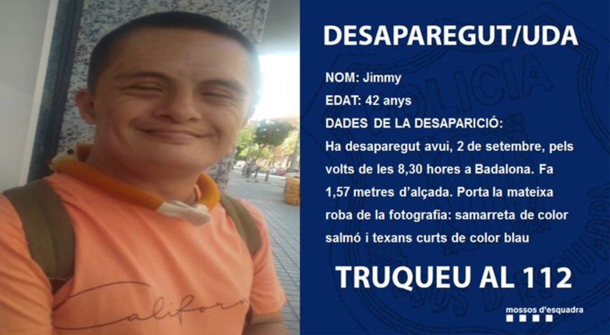Els Mossos investiguen la desaparició d'un home amb síndrome de Down a Badalona