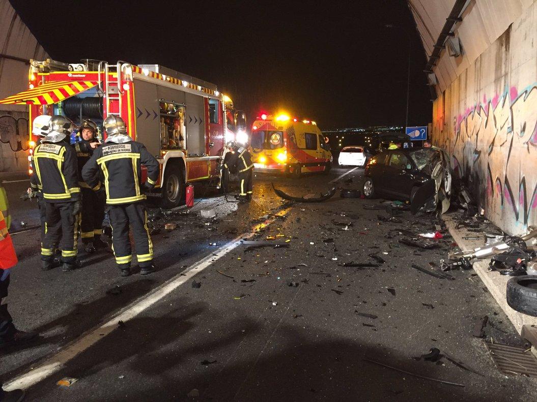 Mor un conductor a Madrid per un xoc frontal contra un vehicle kamikaze | Vídeo