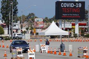 Pruebas de COVID-19 en Los Ángeles, California.