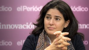 Elena Massot, durante una entrevista para el suplemento +Innovación de EL PERIÓDICO.