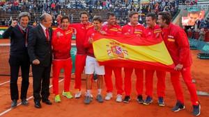 El equipo español que en abril ganó a Alemania en Valencia para clasificarse a semifinales.