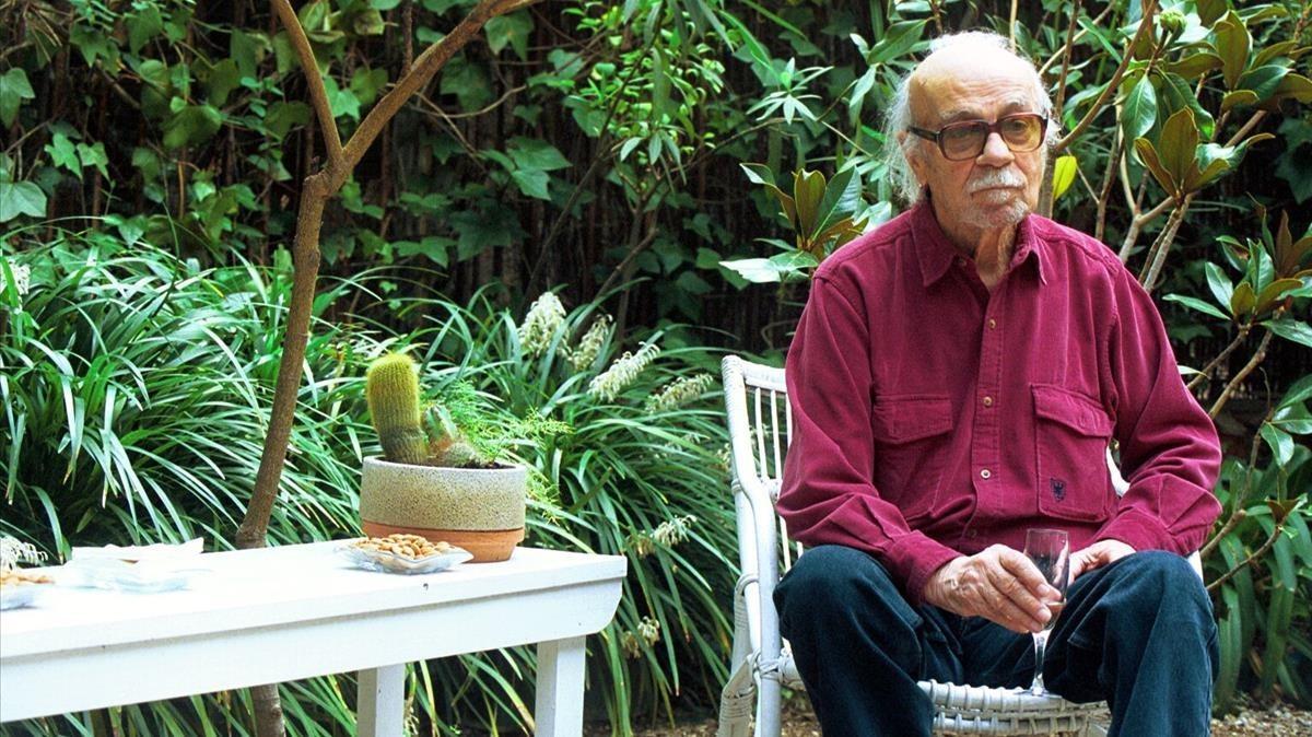 Ernesto Sabato, en una de sus visitas a Barcelona.
