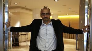 El escritor Junot Díaz, en una de sus visitas a Barcelona.