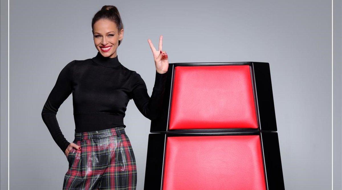 Eva González, presentadora de 'La voz'.