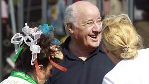 Retrato de Amancio Ortega, fundador de Zara y del Grupo Inditex,en A Coruña.