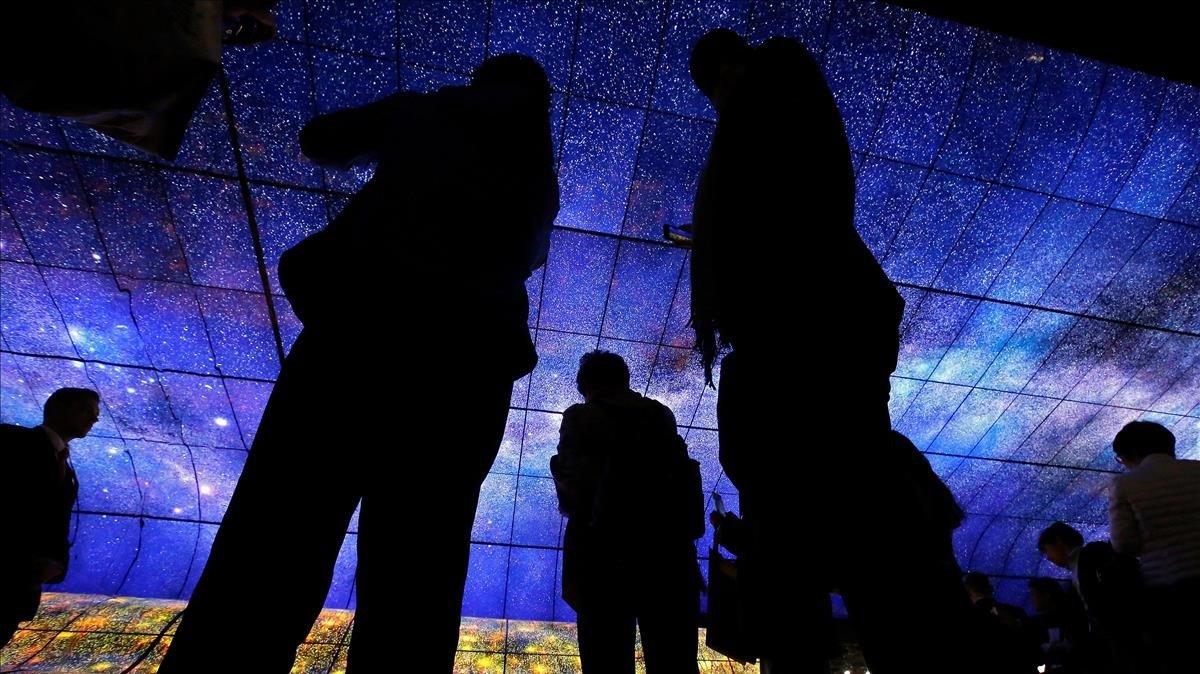 Imagen de la Feriade Electronica de Consumo (CES) de este año enLas Vegas, EEUU.