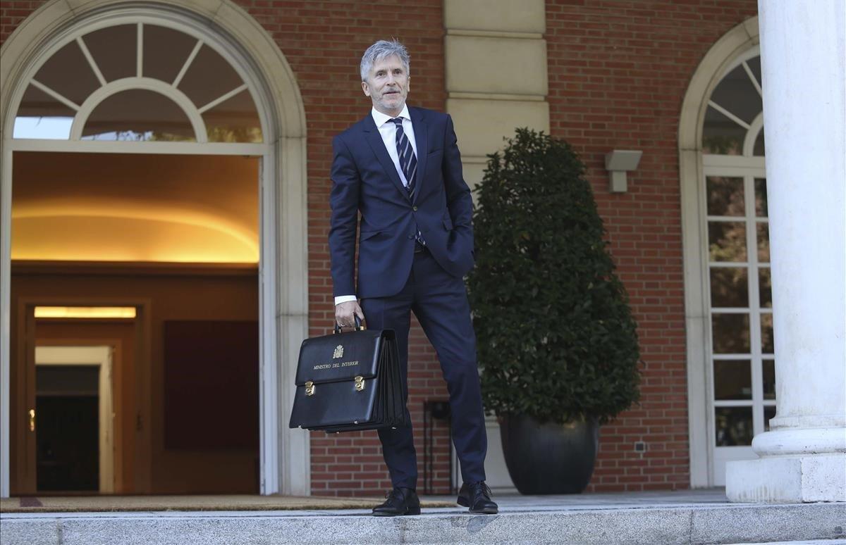 El ministro del Interior, Fernando Grande-Marlaska, a su llegada a una reunión del Consejo de Ministros.