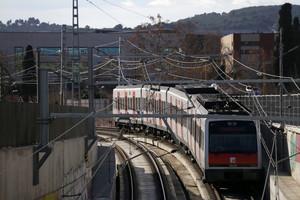Presentacióde linicide les obres de soterramentde la línia dFGC al barride Can Feu de Sabadell.