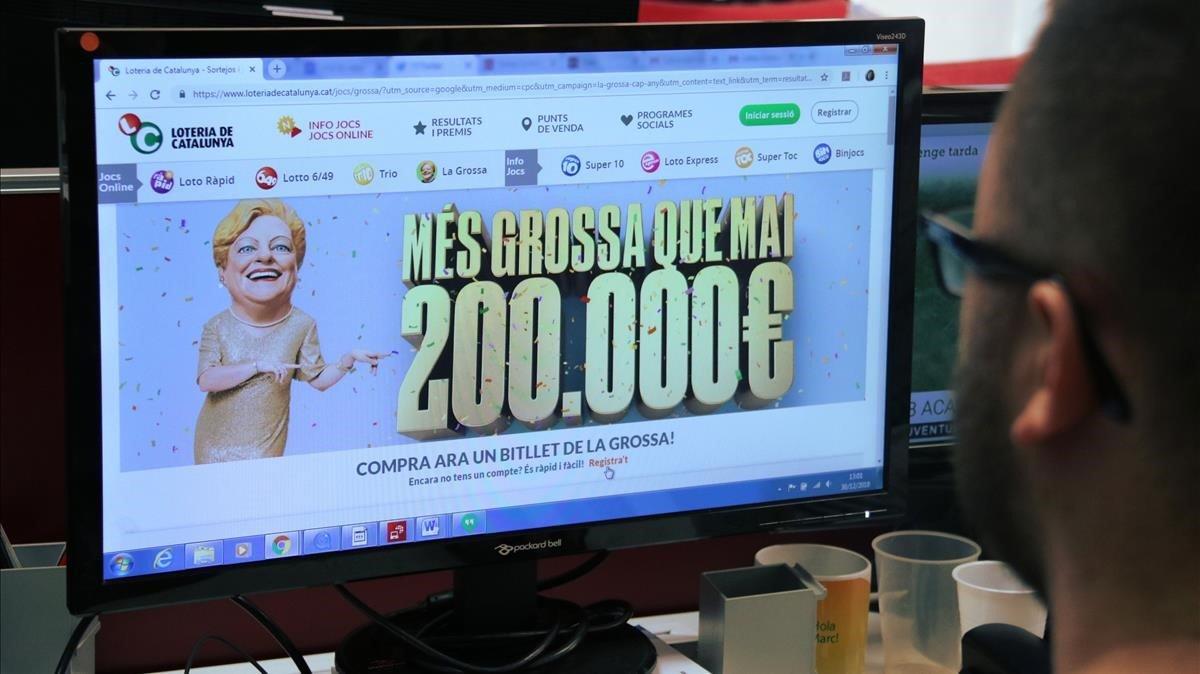 Imagen de la Grossa de Cap dAny, lotería de la Generalitat.