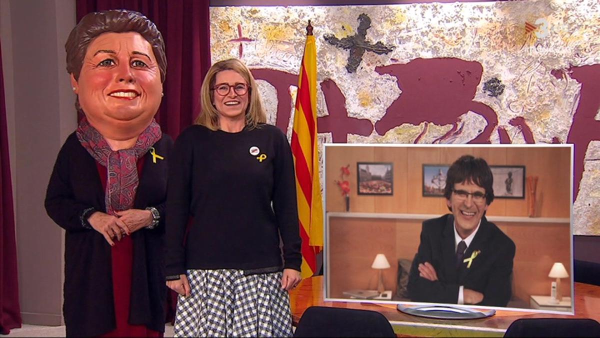 La Grossa, Artadi y Puigdemont ('Polònia').