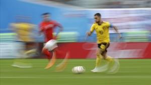Hazard corre junto a Lingard en el Bélgica-Inglaterra de San Petersburgo.