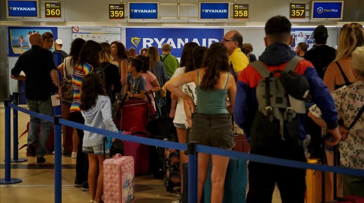 Huelga de Ryanair en el aeropuerto de Barajas.