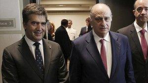 Ignacio Cosidó, Jorge Fernández Díaz y Francisco Martínez, en una imagen de archivo.