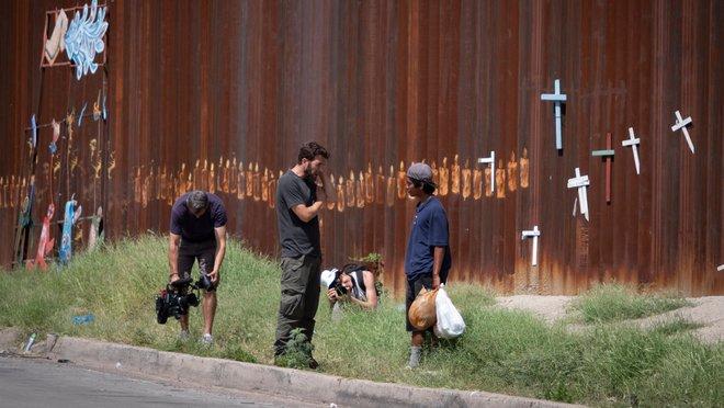 Gonzo, en una imagen del documental Detrás del muro.