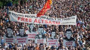 Manifestación en Pamplona en protesta por la sentencia del 'caso Alsasua'.