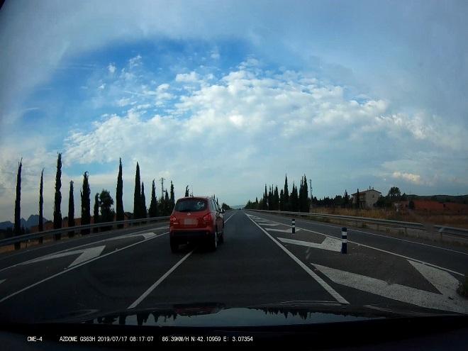 Infracciones grabadas este verano por coches camuflados de los Mossos