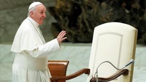 El Papa Francisco este sábado en el Vaticano.