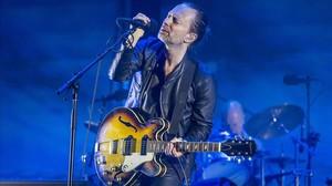 Thom Yorke, en el concierto de Radiohead en el Primavera Sound 2016