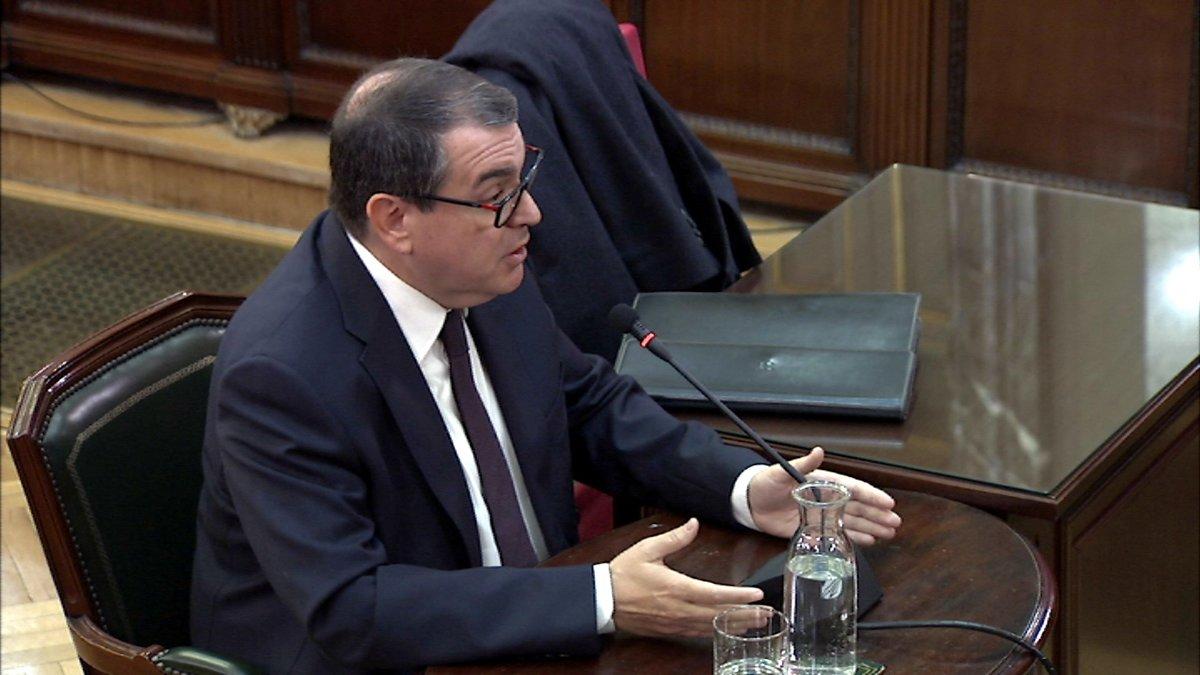 Jordi Jané declara en el Tribunal Supremo.