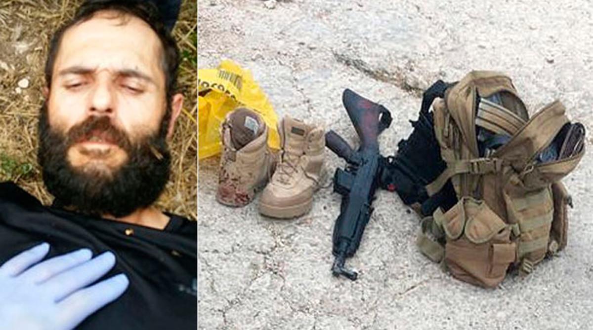 Lautor del tiroteigde Gavà, i el material trobat al seu cotxe.