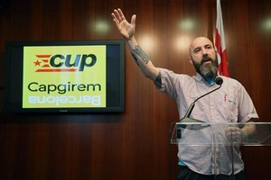 Josep Garganté, durante larueda de prensa que ofreció en la sede del ayuntamiento.