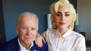 Joe Biden y Lady Gaga.