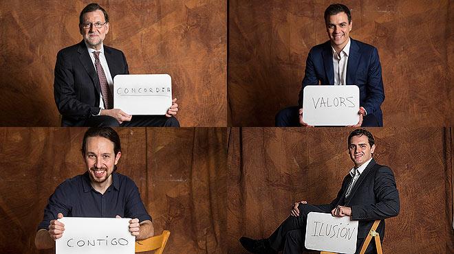 Los candidatos a las elecciones generales del 20D eligen una palabra para expresar su deseo para el futuro próximo.
