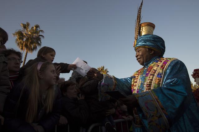 Los Reyes Magos llegan a Barcelona.