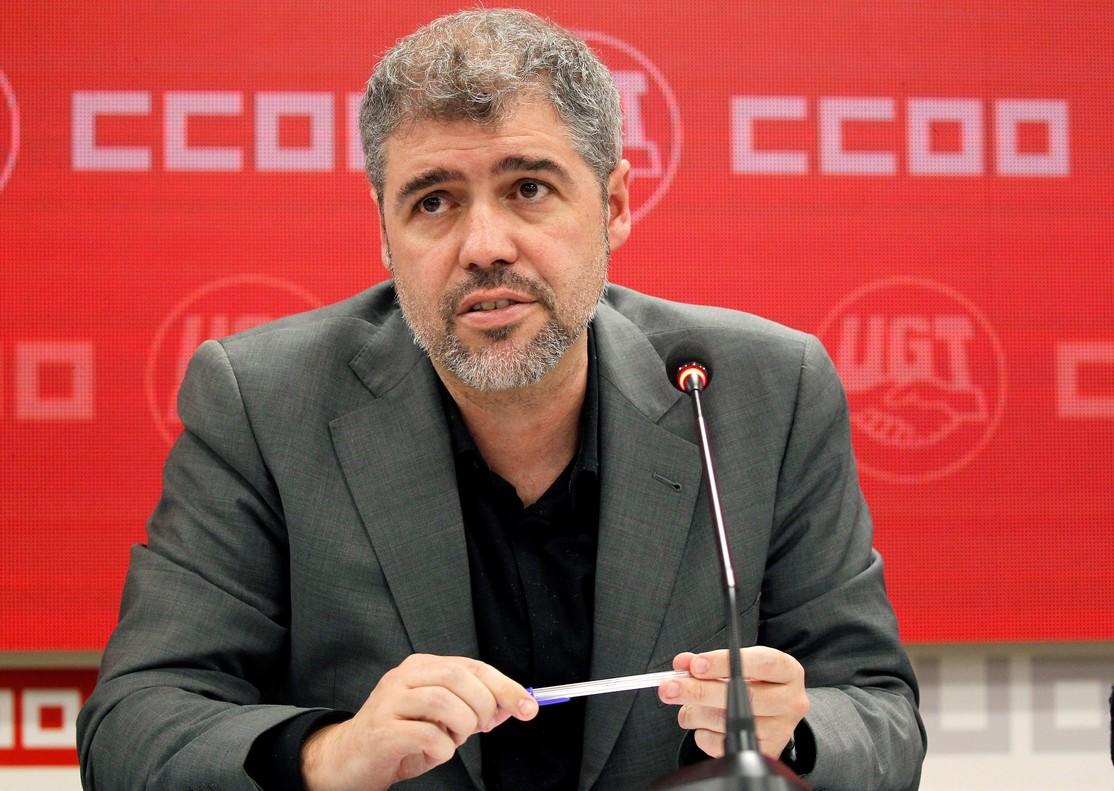 El secretario general de CCOO, Unai Sordo, ha fijado el 8 de marzo, día internacional de la mujer, como primera fecha de la ofensiva laboral.