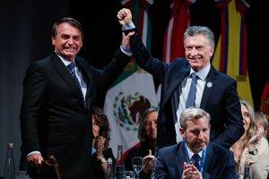 Mauricio Macri, presdiente de Argentina y Jair Bolsonaro, presidente de Brasil.