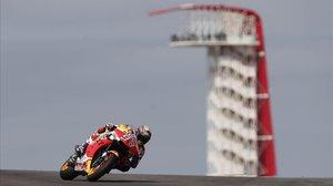 Marc Márquez (Honda), el pasado año, en Austin (Texas), uno de sus circuitos favoritos.