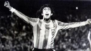 Mario Kempes, con la selección argentina en 1978.
