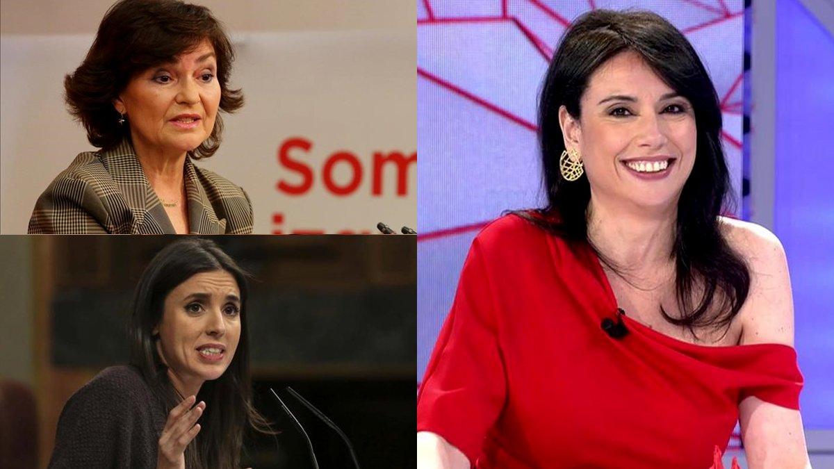 Carmen Calvo, Irene Montero y otros apoyos a Marta Flich tras el ataque machista de Eduardo Inda