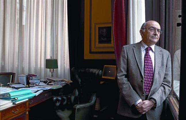 Miguel Ángel Gimeno, la setmana passada al seu despatx oficial a la seu del Tribunal Superior de Justícia de Catalunya.