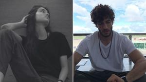 La modelo Paula Willems y el actor Quim Gutiérrez, en fotos que han colgado en sus respectivas cuentas de Instagram.